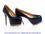 Gianmarco Lorenzi Platform Pump Wooden Stiletto Heel Wooden Platfrom F