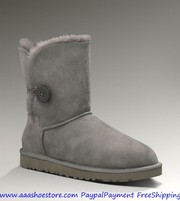 Wholesale Australia Bailey Button Grey Sheepskin Boot Free shipping Pa