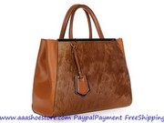 Hot sale Fendi 2Jours Tote Bag Brown Free shipping Paypal payment www.