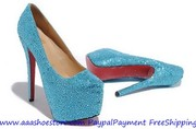 Wholesale Christian Louboutin Dafodile Strass Crystal Red Sole Pump Bl