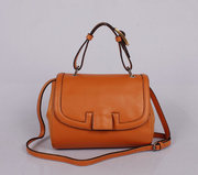 Wholesale Fendi Colorblock Silvana Leather Satchel Orange Free shippin