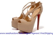 Christian Louboutin Exagona 160mm Peep Platform Leather Pumps With Cri