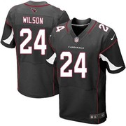 Wholesale Men's Nike Arizona Cardinals 24 Adrian Wilson Elite Black