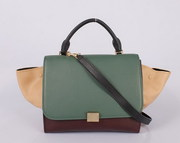 Wholesale Celine Trapeze in Multicolor Pony Royal Green Khaki Free shi