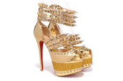 Christian Louboutin Isolde Gloden 160mm Free shipping paypal payment w