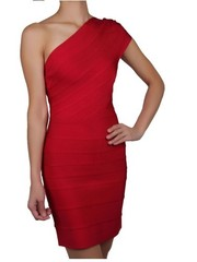 Wholesale HERVE LEGER JOSEPHINE ONE-SHOULDER BANDAGE DRESS