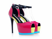 Gianmarco Lorenzi Rose Sheepskin Platform Sandal Wholesale, Free ship