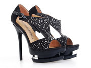 Wholesale Gianmarco Lorenzi Black Diamond Platform Sandals at www.lele