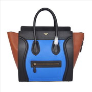 Celine Luggage Mini in Multicolor Pony Royal Blue handbag Wholesale