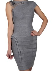 HERVE LEGER JOSEPHINE ONE-SHOULDER BANDAGE DRESS Wholesale