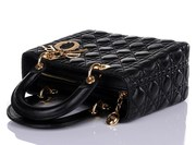 Christian Dior Black Leather 'Lady Dior' Bag Supply with free shipping
