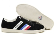 Moncler Monaco Suede Sneakers Black Wholesale with free shipping