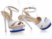 Gianmarco Lorenzi White Cut Out Platform Sandal Wholesale