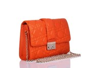 Christian Dior Orange Matt Leather 'Miss Dior' Bag Wholesale