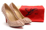 Christian Louboutin Pigalle Spiked Pointed-Toe Red Sole Pump Pin whole